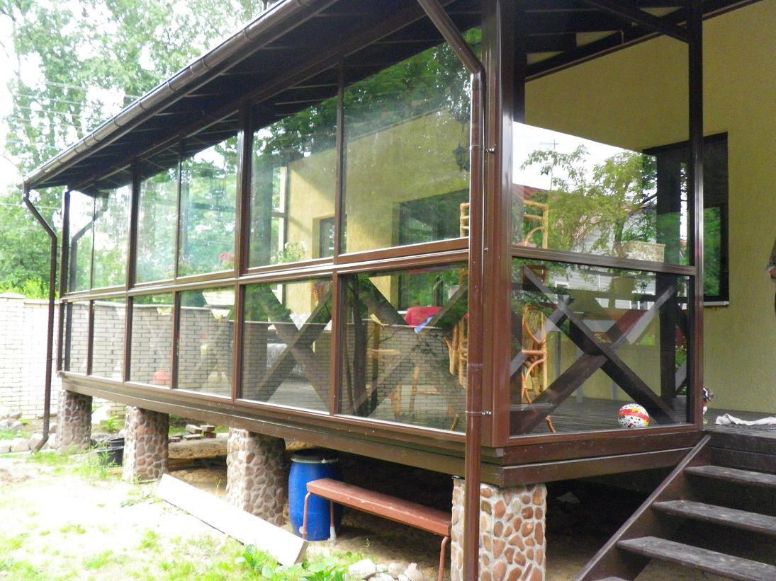 Строительство летней веранды своими руками 95